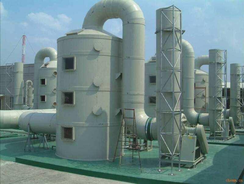 W F J-2A型多功能废气净化塔( 玻璃钢酸雾净化塔,玻璃钢废气处理塔)